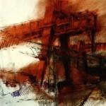 transportkran farbkreide/papier 42x62cm