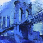 brooklyn bridge pigment/dispersion/leinw. 130x170cm