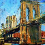 new york brooklyn bridge öl/leinw. 50x70cm