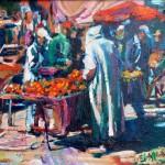 orangenmarkt marrakech öl/leinw. 50x60cm