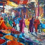 souks marrakech öl/leinw. 80x100cm